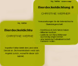 Bierdeckel-Dichtung von Christine Werner