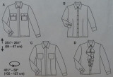 Pattern diagrams. I made view B but with long sleeves