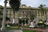 Riobamba has old colonial charm, with cobbled streets, pastel-colored buildings & stately squares