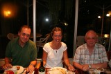 end of trip party in Guayaquil: Tristan, Meeli, Brian