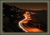 Violet Dot Well Right Of Center = Santa Monica Pier Ferris Wheel ~ Lines Above City Lights = Planes Landing LAX