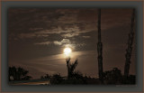 2011 Perigee Moon's Brief Appearance Through Clouds