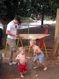 Kids helping Daddy