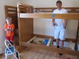 Disassembling the bunkbeds!