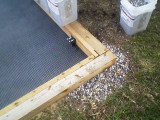 Hawk House Construction - Foundation corner detail.