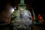 Medusa head in the Basilica Cistern Istanbul
