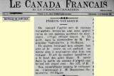 13 novembre 1908 - Pigeon ... pas si voyageur!