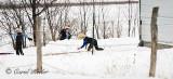 Amish Children's Snowball Fight