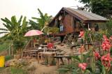 For rent 20 bat (½ euro) per night, Chiang khan on the Mekong bank