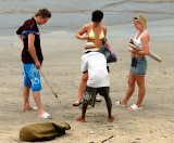 Drawing in the sand when negotiating for souvenirs gets over a language barrier