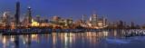Chicago Winter Skyline Panorama