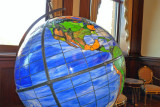 Globe in stained glass
