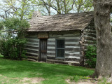 Log cabin, city park