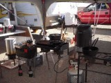 Tuesday:Camp Kitchen set upat Indian Creek