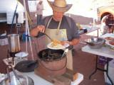 Bob serves up a plateof Picante Chicken,Noodles, Roll & Salad