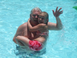 Papa & Kaylen enjoying some time in the pool