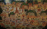 Large painting of river life