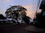 Sunset on Fa Ngum Road