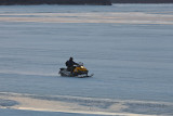 Snowmobile on the Moose River 2011 April 14