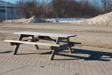 Picnic tables are out