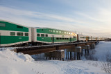 2012 February 27th two GO Transit bilevels in the consist of the Polar Bear Express.