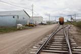 Tracks at Moosonee Airport 2012 June 3rd.