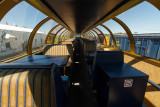 Interior of Ontario Northland full length dome Otter Rapids