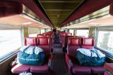 Interior of Ontario Northland Railway coach 852.