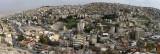 Panorama de la partie est de la ville d'Amman pris depuis la citadelle