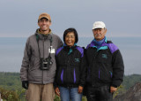 Hanging out with the hawkwatching couple from Japan!