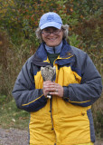 Gail with the Richardson's Merlin