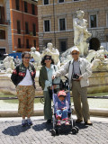 At the Piazza Novona, with some majestic sculpture.