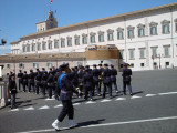 The change of the Guard at the Palazzo Quirnale (Quirnale Palace).