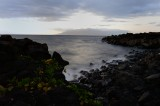 Lava rock shoreline on Maui