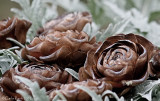Wooden Rose pine cone