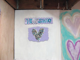 Besso Mosaic Heart Studio Sign 2011
