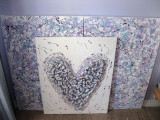 Besso Pollock Painting and PopCork Heart 2011