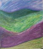 Besso Purple Mtn Majesty Oil Pastel on wood 2011