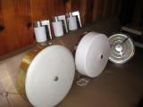moe lights, prescolite outdoor sconces, nutone fan