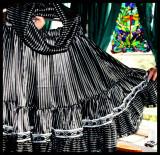Silk Pinstripe skirt with matching endless scarf.JPG