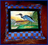 Blue Heron woven suede pillow.JPG
