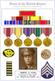 Gallery #10 -       WWII Medals & Awards 56th Sig Bn        US Army