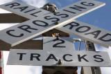 crossing x rail road - 2 tracks