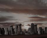 Stonehenge Sunset- Aged Newspaper.jpg
