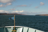 Heading into the wind up the Sound of Islay