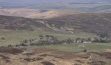 Leadhills village from Green Lowther Hill