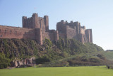 Bamburgh Castle from the village