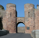 Bamburgh Castle main gate entrance