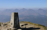 Ben Lomond, view from the trig point on the summit