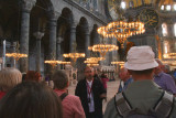 Our guide Haluk giving his commentary in the Hagia Sofia, Istanbul